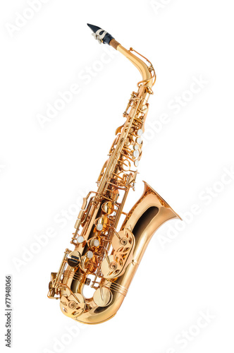 Leinwanddruck Bild Saxophone isolated