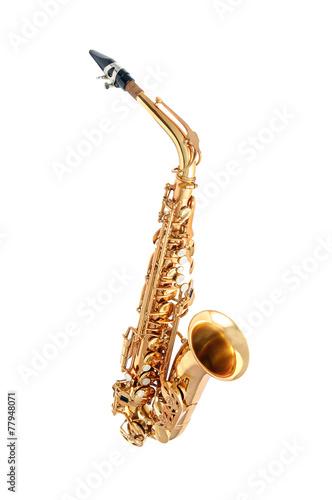 Saxophone isolated - 77948071