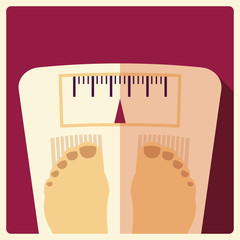 Bathroom weight scales, flat design
