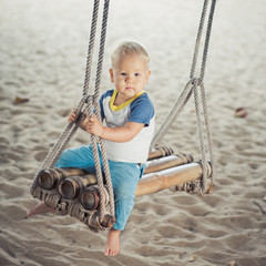 Baby on a swing
