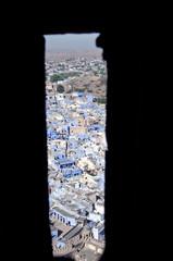 Jodhpur blue city view from historical Mehrangarh Fort,  India