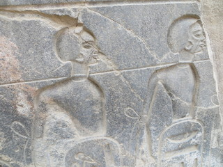 Slaves carved in Egyptian temple