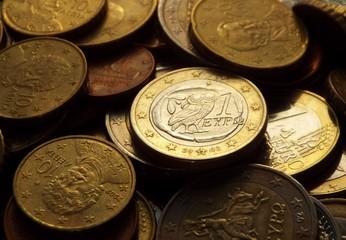 Griechischer Euro im Dunkeln