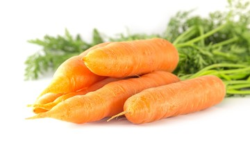 Karotten freigestellt