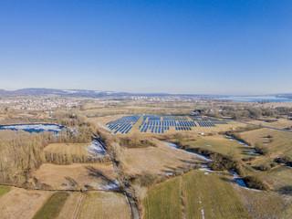 Luftaufnahme - Solaranlage