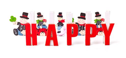 Happy, Glückwunschkarte