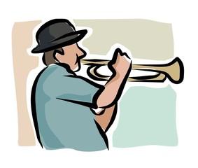 sketchy trumpeter