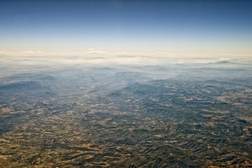 mountains near mexico city aerial