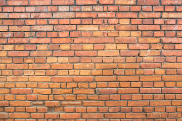 square red brick wall background