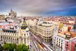 Madrid, Spain Cityscape over Gran Via