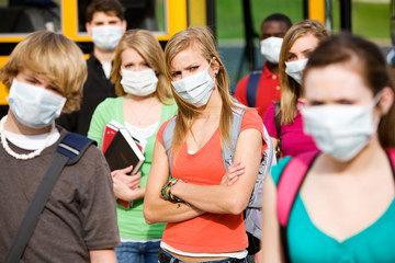 School Bus: Student Body Trying To Avoid Infection