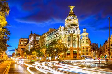 Madrid, Spain at Gran Via