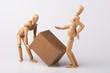 Leinwanddruck Bild - Bandscheibenvorfall, Arbeitsunfall