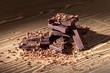 canvas print picture - black chocolate