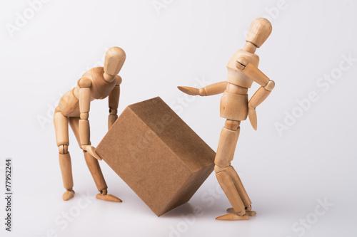 Leinwanddruck Bild Bandscheibenvorfall, Arbeitsunfall