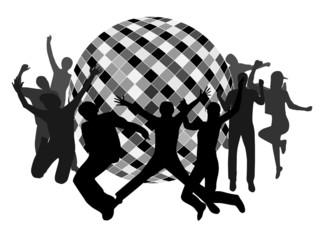 Illustration of disco club