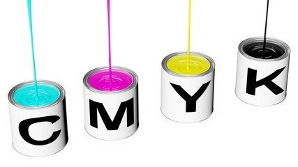 cans with cmyk ink