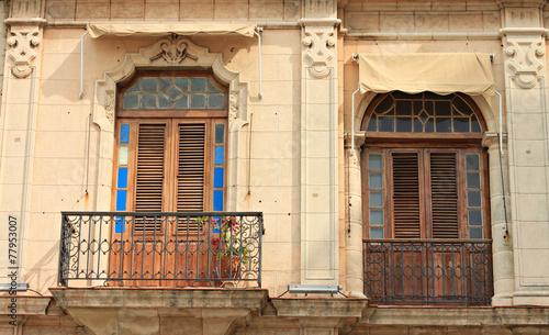 windows of building in Havana street