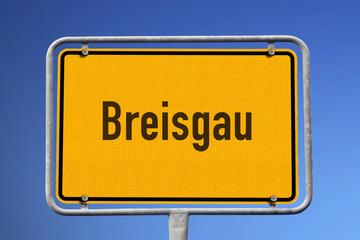 Schild Breisgau