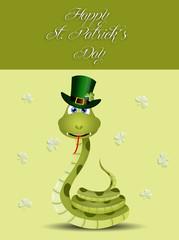 Funny snake for St. Patrick's Day
