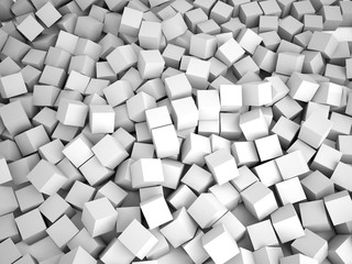 Cubes abstract background, 3D