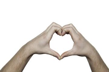 copy space heart hands II