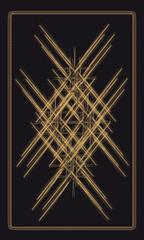 Tarot cards - back design, geometric pattern