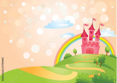 Fairy Tale castle. Plakát