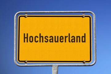 Schild Region Hochsauerland