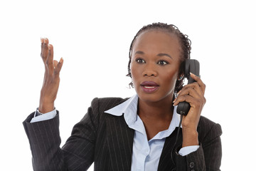 femme d'affaires noire bureau