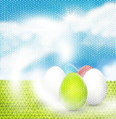 Easter sunny sky illustration