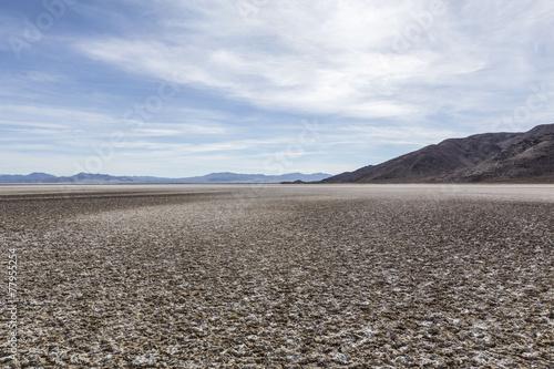 Leinwandbild Motiv Zzyzx Dry Lake in the Mojave Desert