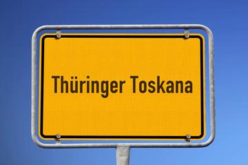 Schild Thüringer Toskana