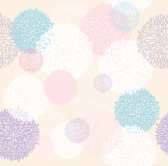 Abstract floral pattern. Seamless pattern with flowers. Floral b