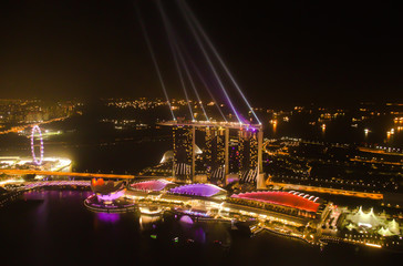View from the highest rooftop bar in Singapore