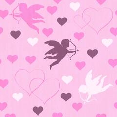 cupid seamless pink
