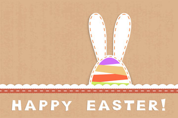 childish easter card