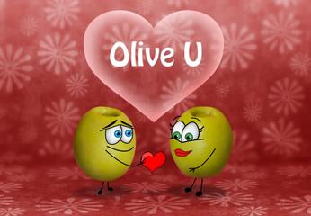Aceitunas enamoradas