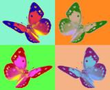 Fototapety pop art Colias butterfly