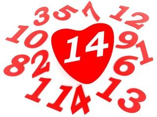 Valentine's calendar - 14 february