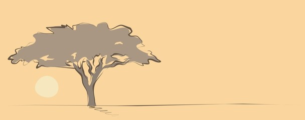 sketchy african tree