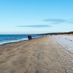 frozen sea beach
