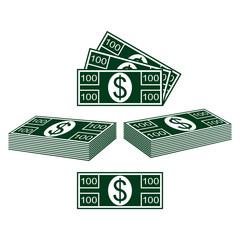 Set of dollars