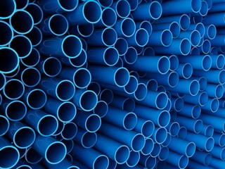 Blue cylinders background