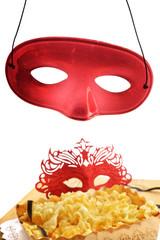 mascherine e chiacchere di carnevale
