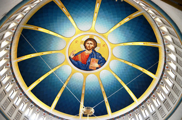 Dome of Resurrection Cathedral in Tirana