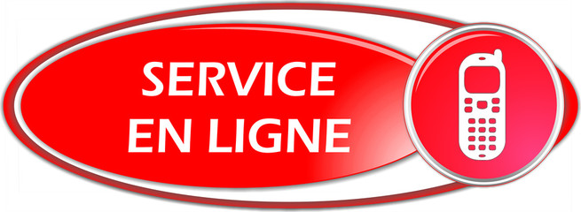 bouton service en ligne