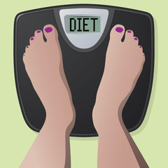Diet Weight Scale with First Person View