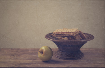 dietetic bread with apple