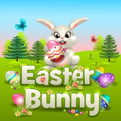 Easter Bunny in the forrest